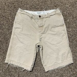 Abercrombie & Fitch Button Fly Shorts Size 31 Tan